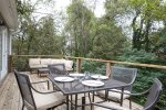 Private Outdoor Deck in with Rear Wooded Privacy